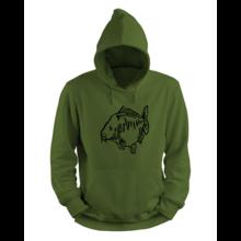 Fat Mirror Hoodie Groen - Zwart