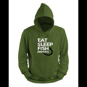 House of Carp Haus der Karpfen essen, schlafen, fischen, wiederholen - Hoodie