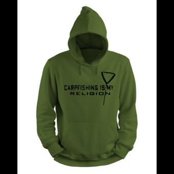 House of Carp Carpfishing ist meine Religion Hoodie   Karpfenhaus - Karpfenbekleidung