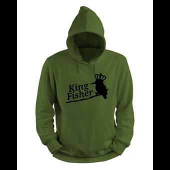 House of Carp Der Eisvogel - König der Fischer King Fisher Hoodie   Karpfenbekleidung