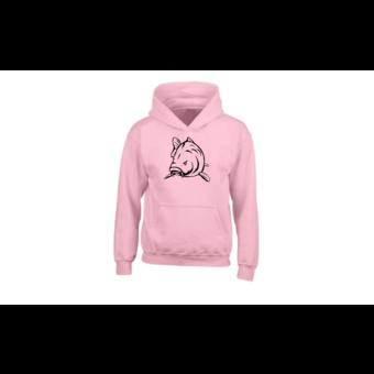 House of Carp Haus des Karpfen Angry Carp Hoodie Pink