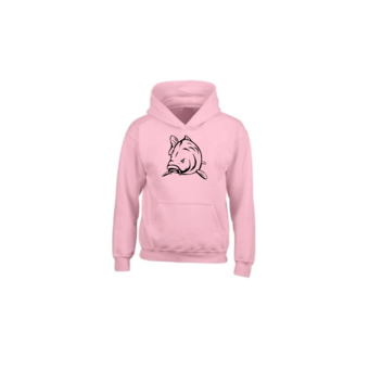 House of Carp House of Carp Angry Carp Hoodie Pink