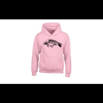 House of Carp Voll skalierte Karpfen Hoodie Pink
