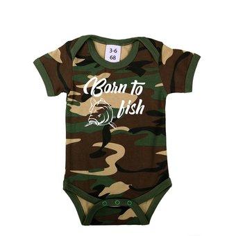House of Carp Karpfenkleidung für Kinder und Babys Zum Fischen geboren - Baby Romper