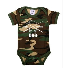 House of Carp Best Fishing Dad - Romper Wit