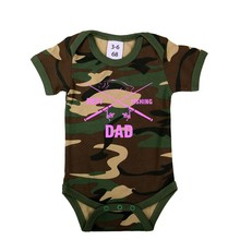 House of Carp Best Fishing Dad - Romper Pink