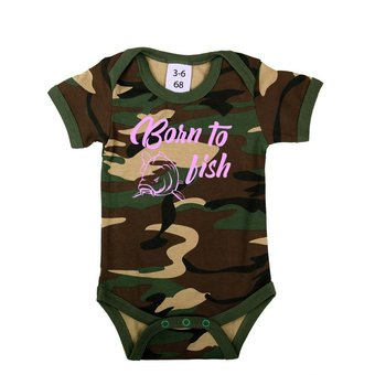 House of Carp Carp clothing for kids and babies Born to fish - Baby Romper