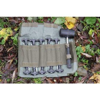 RCG Carp Gear  RCG Carp Gear | Tien heavy duty haringen met rubberen hamer