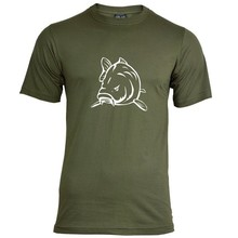 House of Carp Angry Carp T-Shirt Groen - Wit