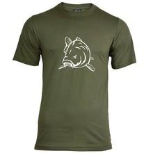 House of Carp Angry Carp T-Shirt Grün - Weiß