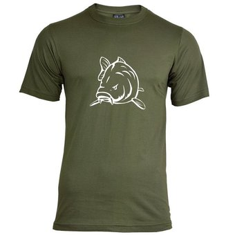 House of Carp Angry Carp T-Shirt Groen - Wit