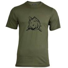 House of Carp Angry Carp T-Shirt Groen - Zwart