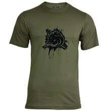 House of Carp Splash  T-shirt - Zwart
