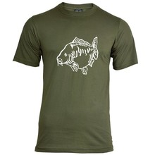 House of Carp Fat Mirror T-Shirt Groen - Wit