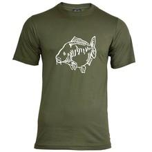 House of Carp Fat Mirror T-Shirt Grün - Weiß