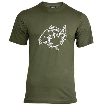 House of Carp Fat Mirror T-Shirt Green - White