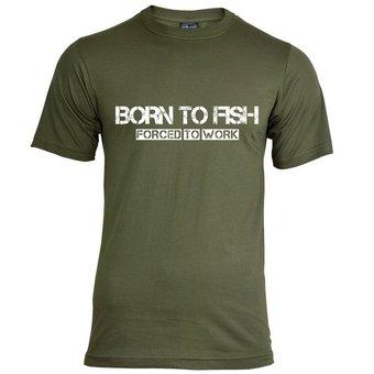 House of Carp Geboren, um T-Shirt zu fischen - Weiß