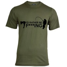 House of Carp I'd Rather be F***ing T-Shirt - Army Green