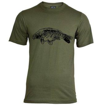 House of Carp Voll skaliertes T-Shirt - Schwarz