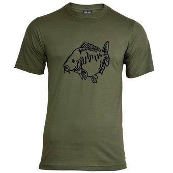 House of Carp Fat Mirror T-Shirt Groen - Zwart