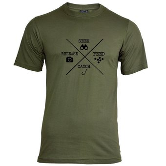 House of Carp Seek Feed Catch Release T-Shirt - Zwart