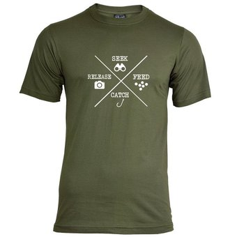 House of Carp Seek Feed Catch Release T-Shirt - Wit