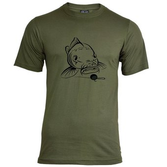 House of Carp Big Mouth T-shirt - Zwart