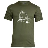 House of Carp Big Mouth T-shirt - Wit