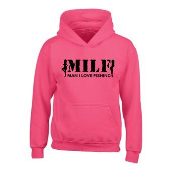 House of Carp Hoodie MILF - Bright Pink