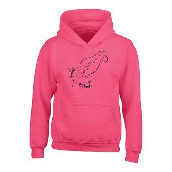 House of Carp Hoodie Fütterungskarpfen - Bright Pink