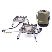 RidgeMonkey Ridgemonkey Quad Connect Pro Full Kit Portable Dual Stove System