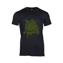 House of Carp T-Shirt Black Splash Army Green