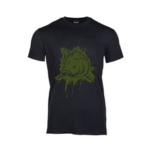 House of Carp T-Shirt Zwart Splash Army Green