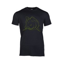 House of Carp T-Shirt Black Angry Carp Army Green