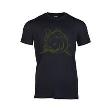 House of Carp T-Shirt Zwart Angry Carp Army Green