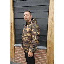 House of Carp Reversible Woodland Camo/zwarte winterjas