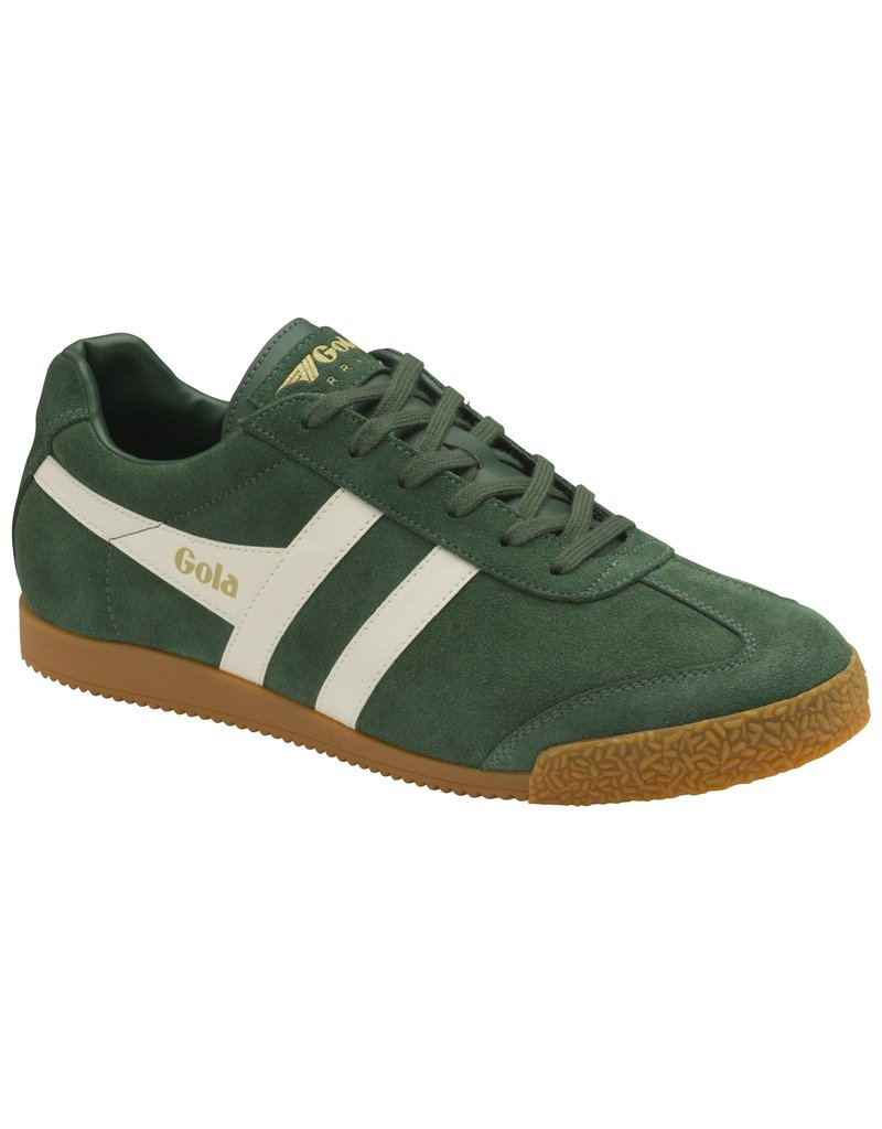 GOLA SHOES GOLA HARRIER SUEDE EVERGREEN GREEN/ OFF WHITE