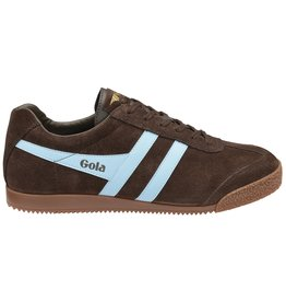 GOLA SHOES GOLA HARRIER SUEDE BROWN PALE BLUE