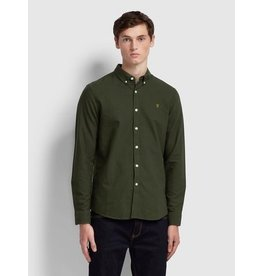 FARAH FARAH BREWER OXFORD SHIRT EVERGREEN
