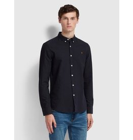 FARAH FARAH BREWER OXFORD SLIM FIT SHIRT NAVY