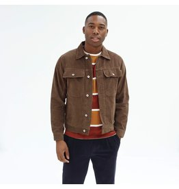 FAR AFIELD FAR AFIELD WATTS JACKET DARK BROWN CORD