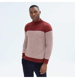 FAR AFIELD FAR AFIELD COMBIN STRIPE KNIT MAROON