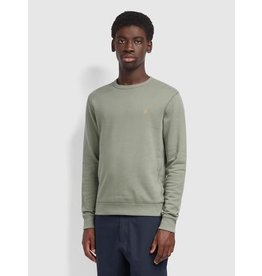 FARAH FARAH TIM COTTON CREW NECK FERN GREEN