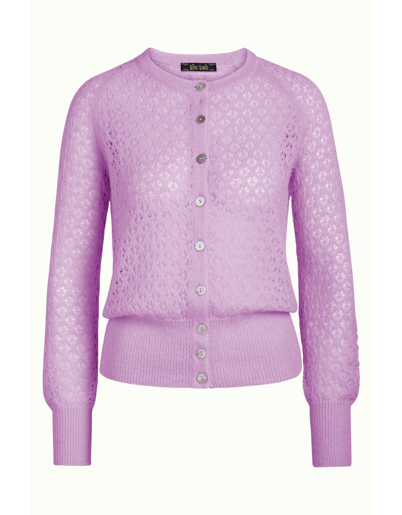 KING LOUIE KING LOUIE CARDI  ROUNDNECK FLUFFY LILAC