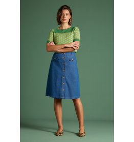 KING LOUIE KING LOUIE CAROLL SKIRT CHAMBRAY