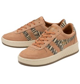 GOLA SHOES GOLA CLASSICS WOMEN'S GRANDSLAM SUEDE SAFARI PEACH ZEBRA