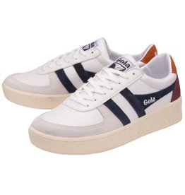GOLA SHOES GOLA CLASSICS MEN'S GRANDSLAM TRIDENT WHITE NAVY MOODY ORANGE