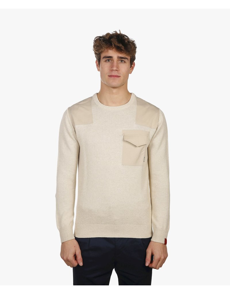ANTWRP ANTWRP PATCHED CREW NECK JUMPER
