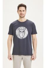KNOWLEDGE COTTON APPARAL KNOWLEDGE COTTON ALDER OWL TEE GOTS/VEGAN