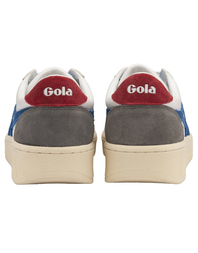 GOLA SHOES GOLA CLASSICS MEN'S GRANDSLAM TRIDENT WHITE MARINE BLUE DEEP RED